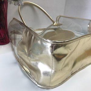 Michael Kors Bags - Michael Kors MK Clear & Gold Transparent Tote Bag